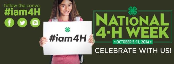 National 4-H Week Logo
