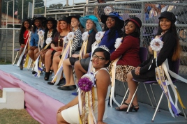 2015 Homecoming Queen Uniqua Stevenson and her Court