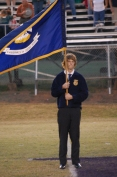 Anthony Bissell, presentation of the Louisiana state flag.