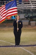 Carrie Driskell, presentation of the American flag
