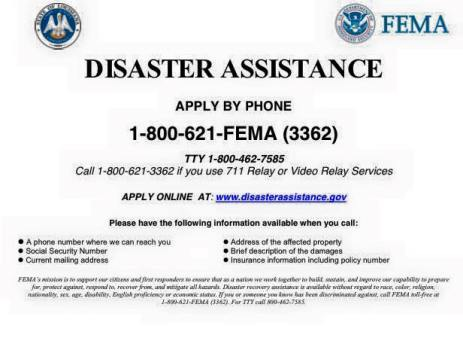 Disaster Assistance FEMA