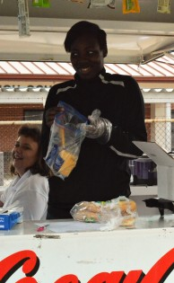 Mrs. Lisa Owens and Tameshia Patterson, working the concession stand.
