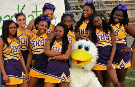 Homer Cheerleaders and Mascot