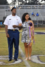 FBLA Sweetheart, Tanishea Lynn, with Alumnus Ladeitrick Dean