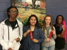 Homer High School students who competed at the Region II Science Fair at Louisiana Tech on January 26, 2018: (left to right). Tyrese Ambeau, Maria Lumbreras, Chandler Glanc, and Mariah West.