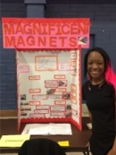 "Mariah West with her Physics project titled ""Magnificent Magnets: Fun with (Ferro) Fluids"""