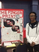 "Tyrese Ambeau with his Biology project titled ""The Fingerprint"""