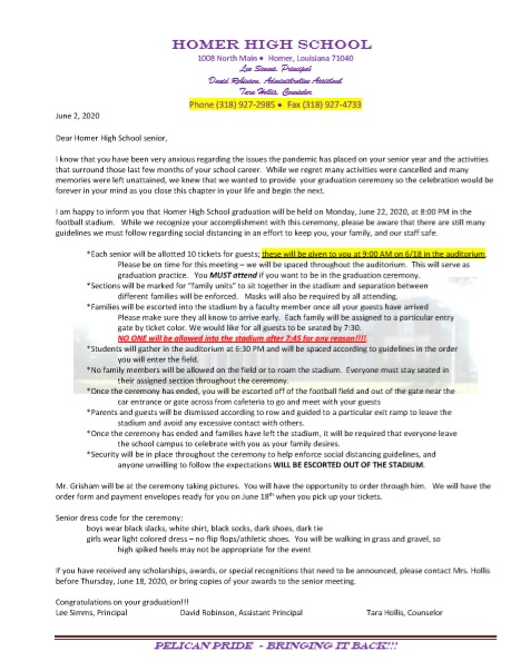 2020 grad letter